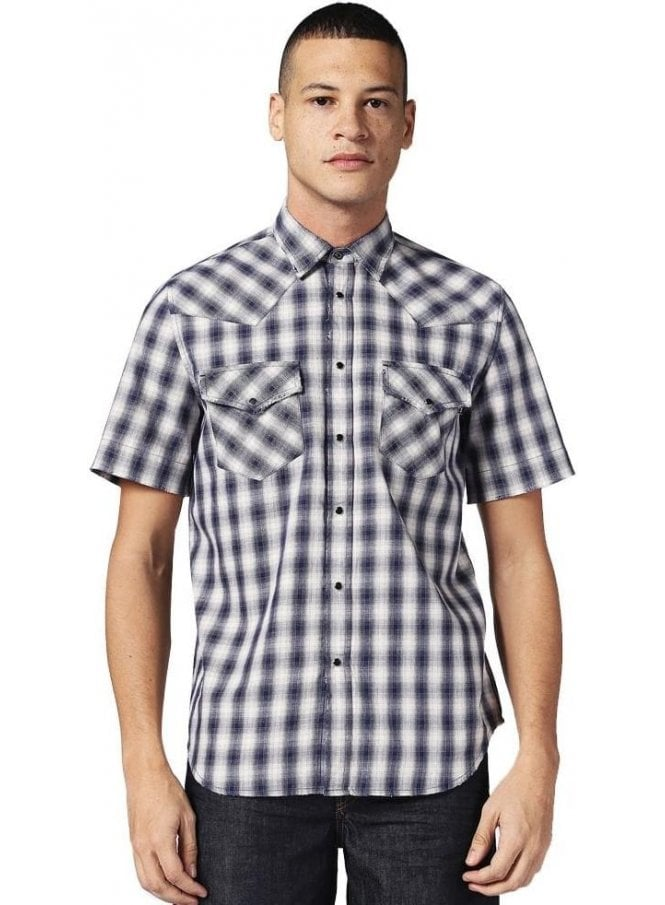 DIESEL S-east Short Shirt Check 8at