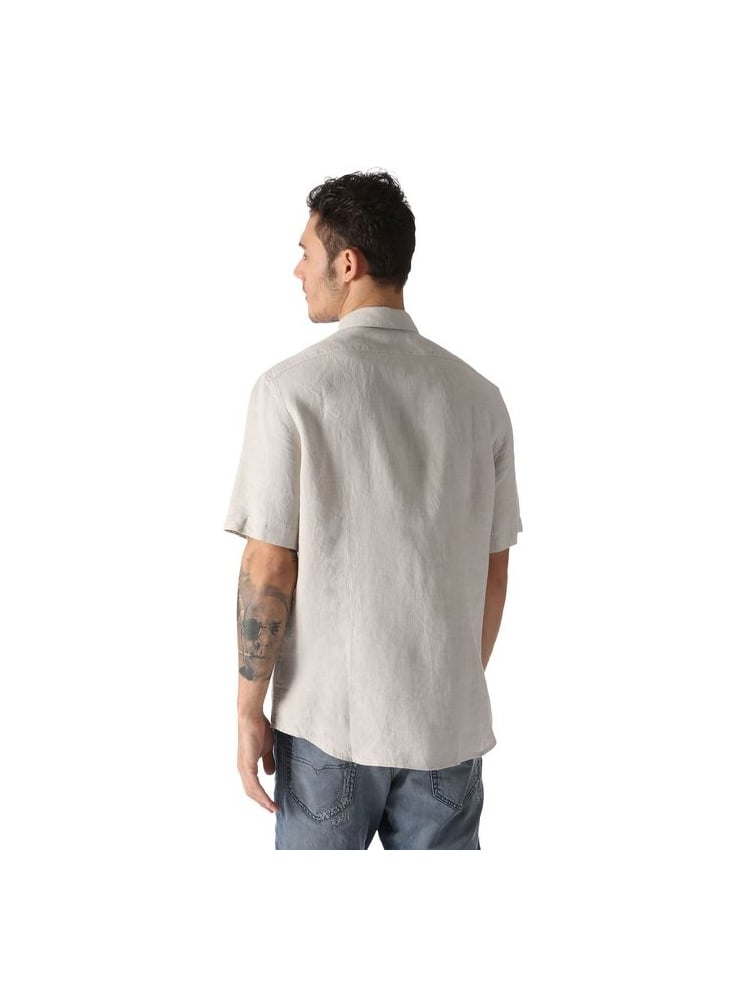 aaaf4a26add Diesel S-emiko S s Linen Pocket Detail Shirt Beige