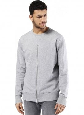 S-ezra Zip Detail Sweater Top Jumper Grey