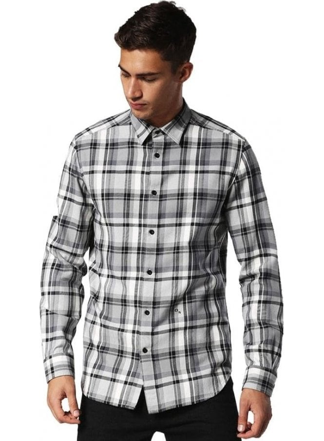 DIESEL S-luck Long Sleeved Checked Shirt 900