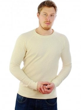 S-mil Perforation Design Sweatshirt Sweater Cream