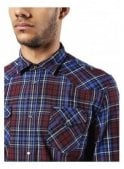 DIESEL Sulfeden Camicia Long Sleeve Check Shirt Burgundy/Blue
