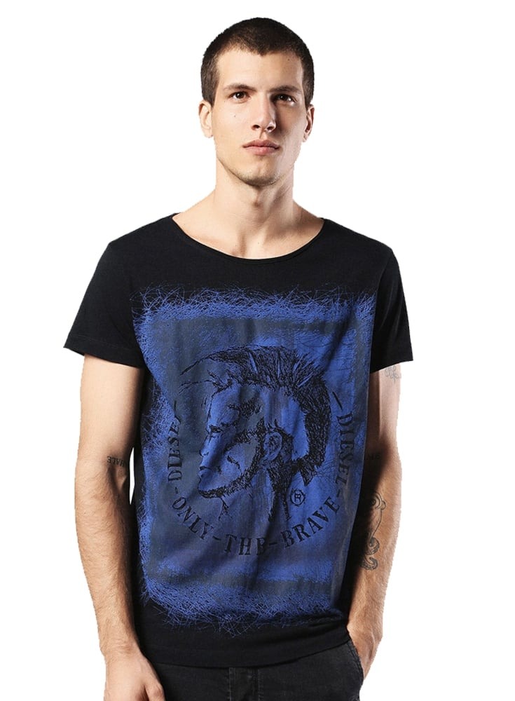Diesel t diego dc eb mohican head design printed s 900 for Dc t shirt design