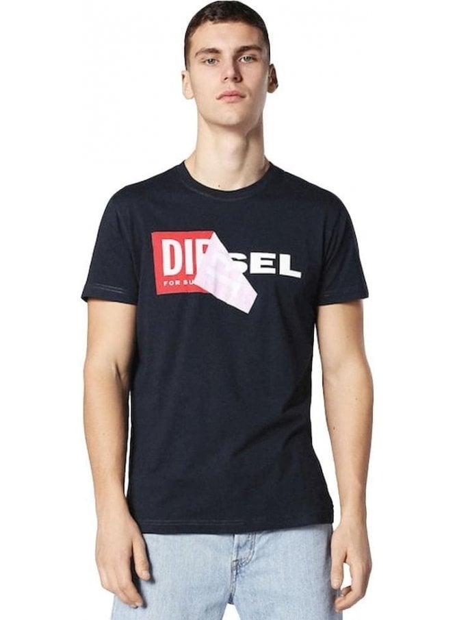 DIESEL T-diego-qa Tshirt Navy