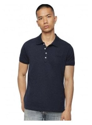 T Heal Broken Polo Shirt 81e Blue
