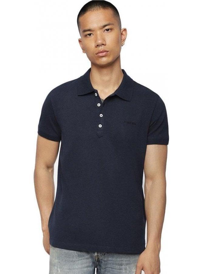 DIESEL T Heal Broken Polo Shirt Navy Blue