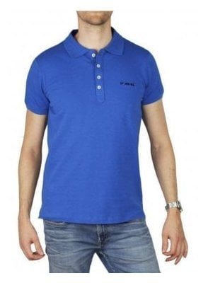 T Heal Broken Polo Shirt Royal Blue