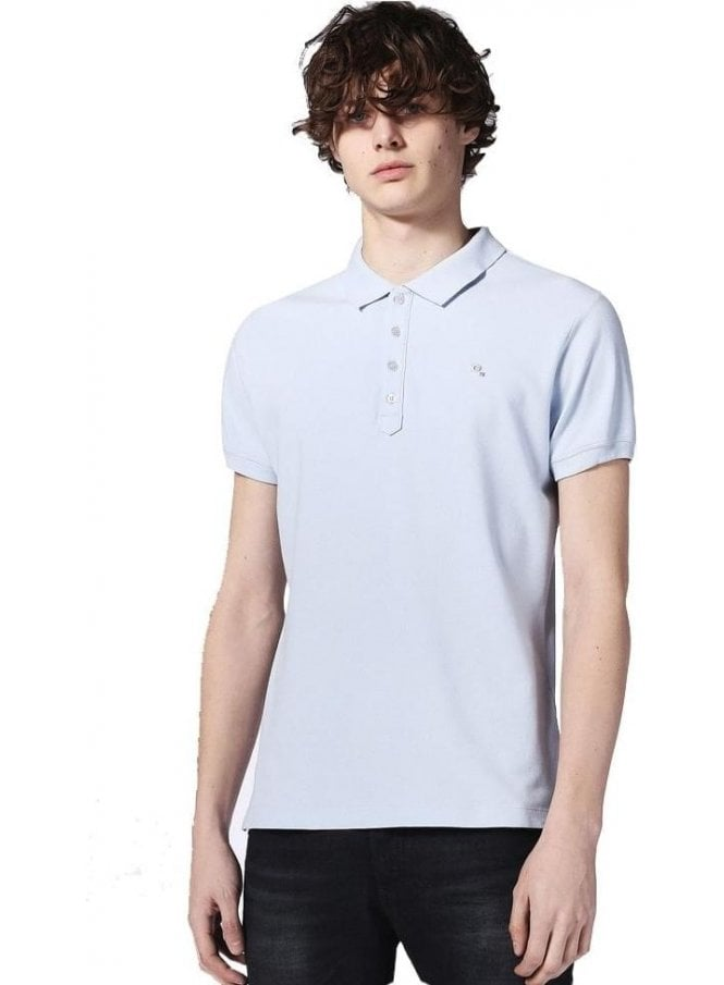 DIESEL T-heal Polo Shirt Sky Blue 8dx