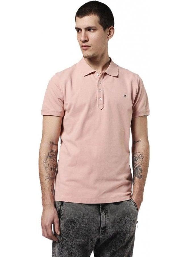 DIESEL T Heal Polo T Shirt Pink 32w
