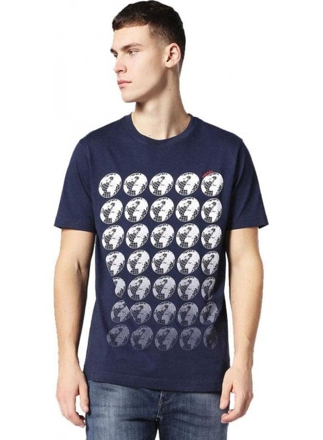 DIESEL T-joe-sc Crew Neck Tshirt 8at
