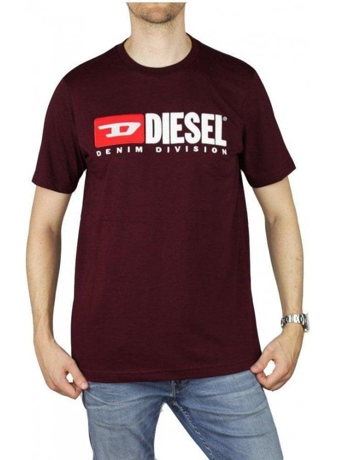 DIESEL T Just Division T-Shirt Plum