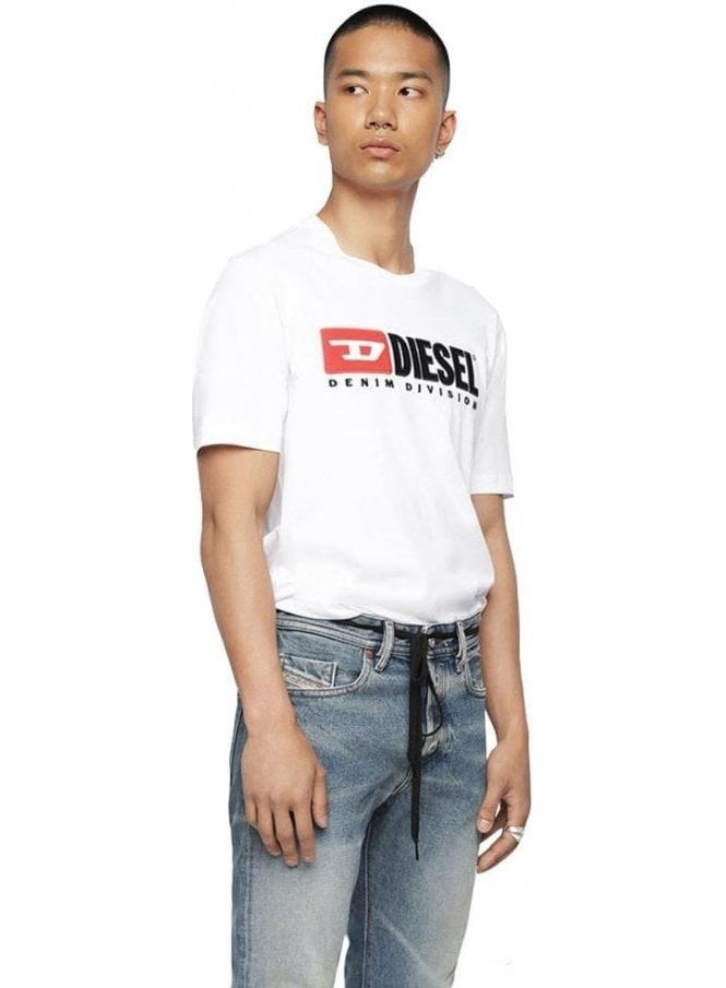 DIESEL T Just Division Tee Shirt 100 White