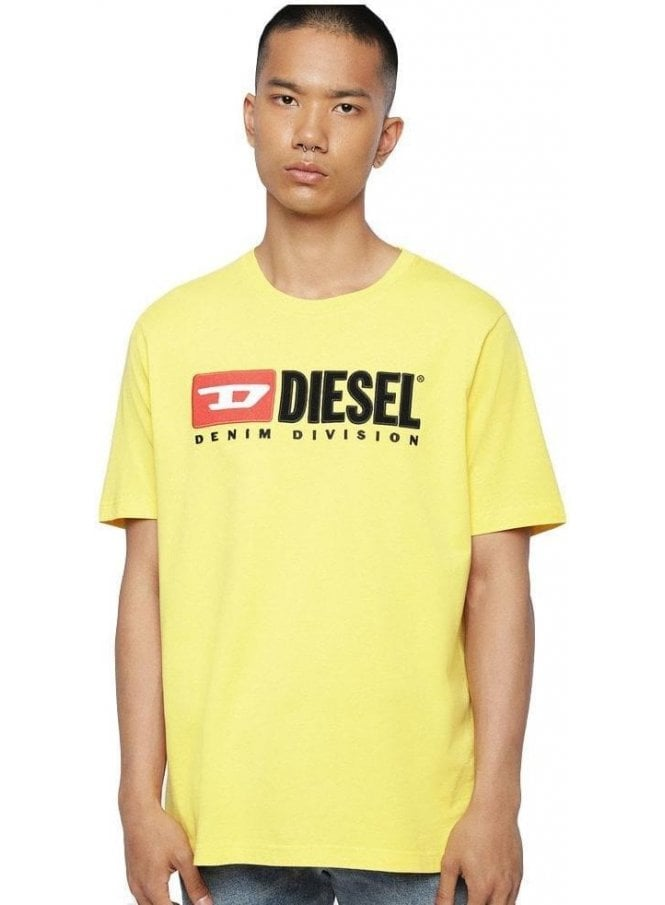 DIESEL T Just Division Tee Shirt 23d Yellow