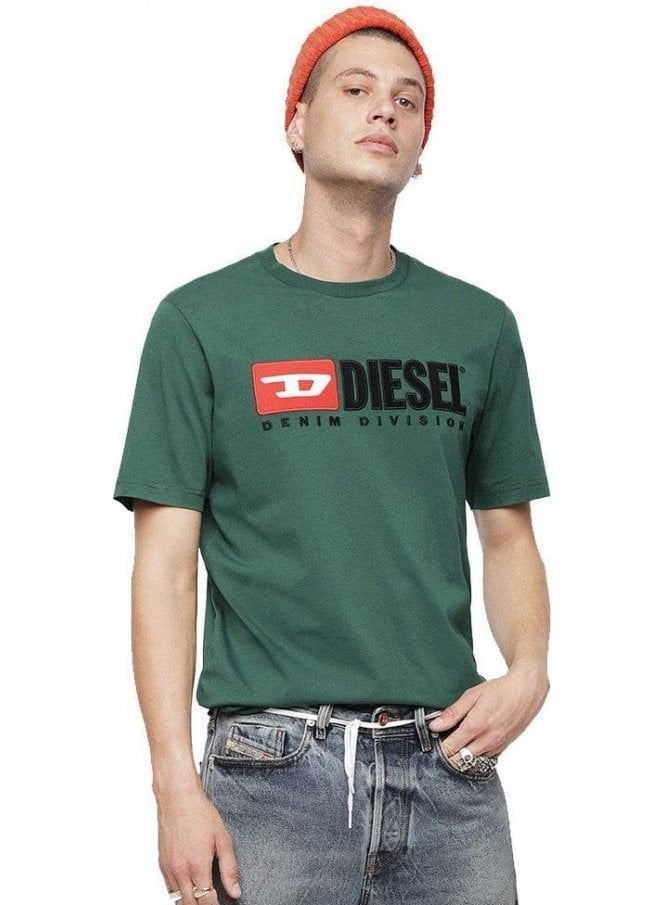 DIESEL T-just Division Tee Shirt 5hs Green