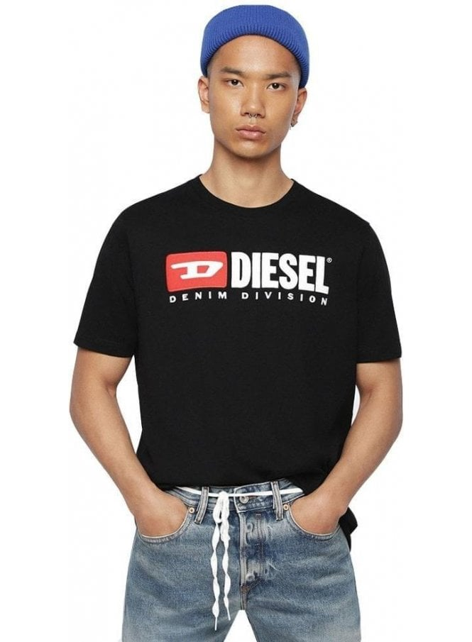 DIESEL T Just Division Tee Shirt 900 Black