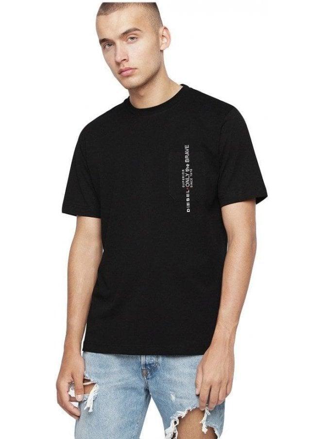 DIESEL T-just Pocket T Shirt 900 Black