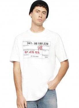 Diesel T Just W2 Tee Shirt 100 White