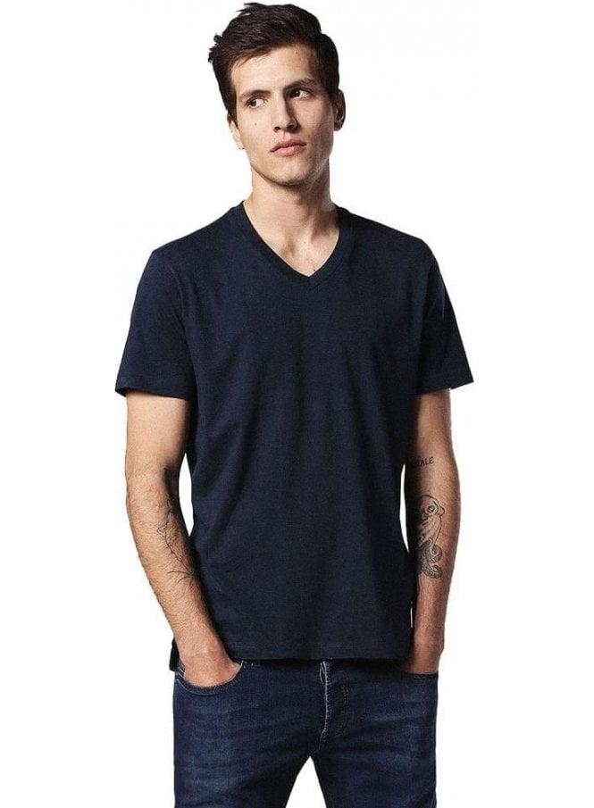 DIESEL T-keith V Neck Tshirt Navy