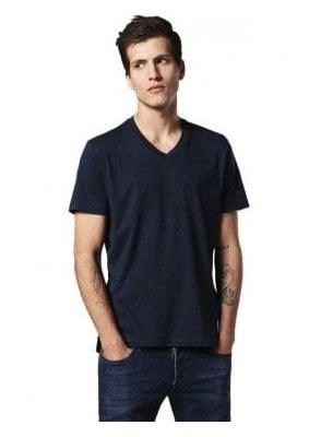 T-keith V Neck Tshirt Navy