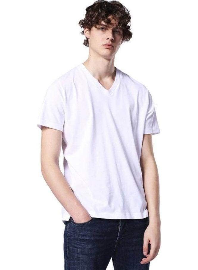 DIESEL T-keith V Neck Tshirt White