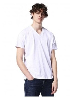 T-keith V Neck Tshirt White
