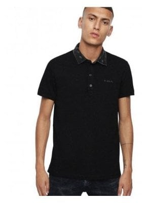 T Miles Broken Polo Shirt Black