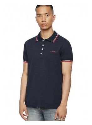 T Randy Broken Polo Shirt 81e Blue