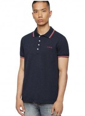 T Randy Broken Polo Shirt 81e Blue