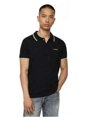 T Randy Broken Polo Shirt 900 Black