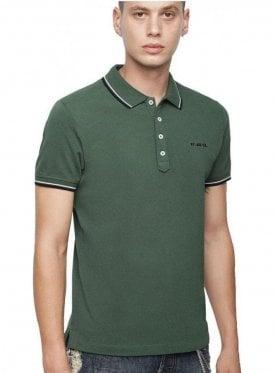 T Randy Broken Polo Shirt Military Green