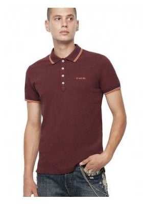 T Randy Broken Polo Shirt Plum