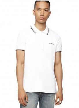T Randy Broken Polo Shirt White