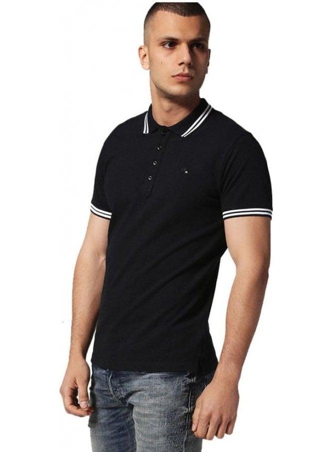 DIESEL T-randy S/s Polo Tshirt Black