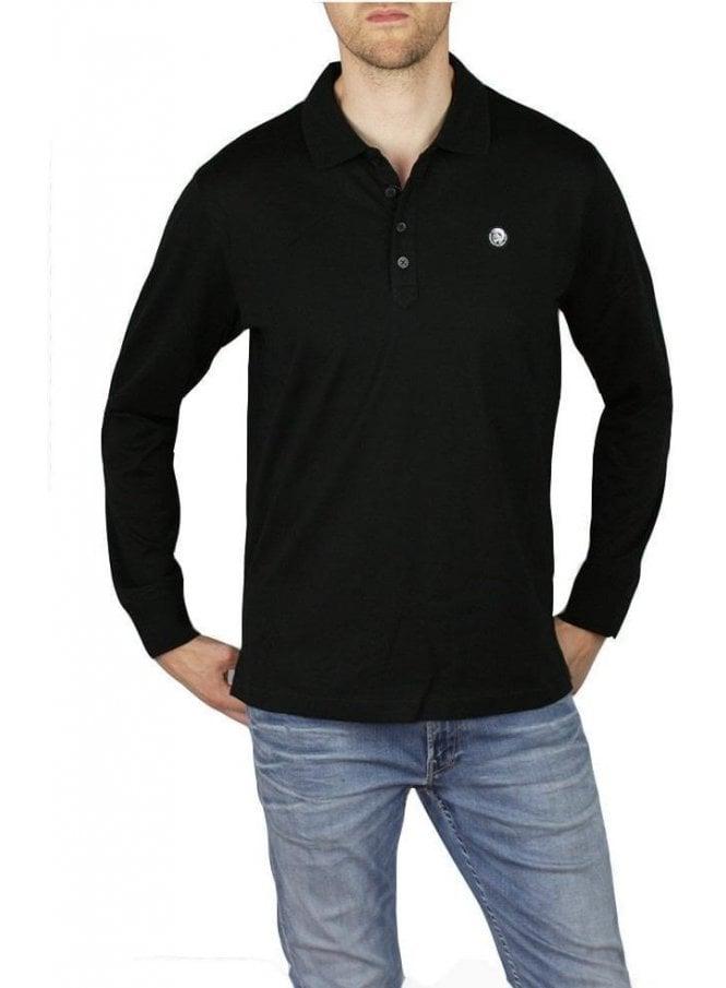 DIESEL T-Weet Long Sleeve Polo Black