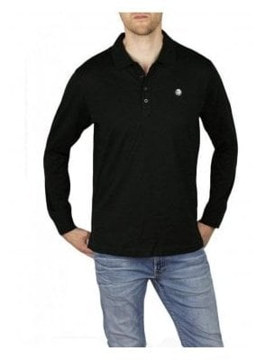 T-Weet Long Sleeve Polo Black