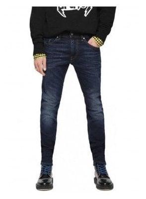 Diesel Thommer Slim Skinny Fitting Denim Jean 084vg Dark Blue