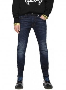 Diesel Thommer Slim Skinny Fitting Denim Jean 084vg Dark Blue