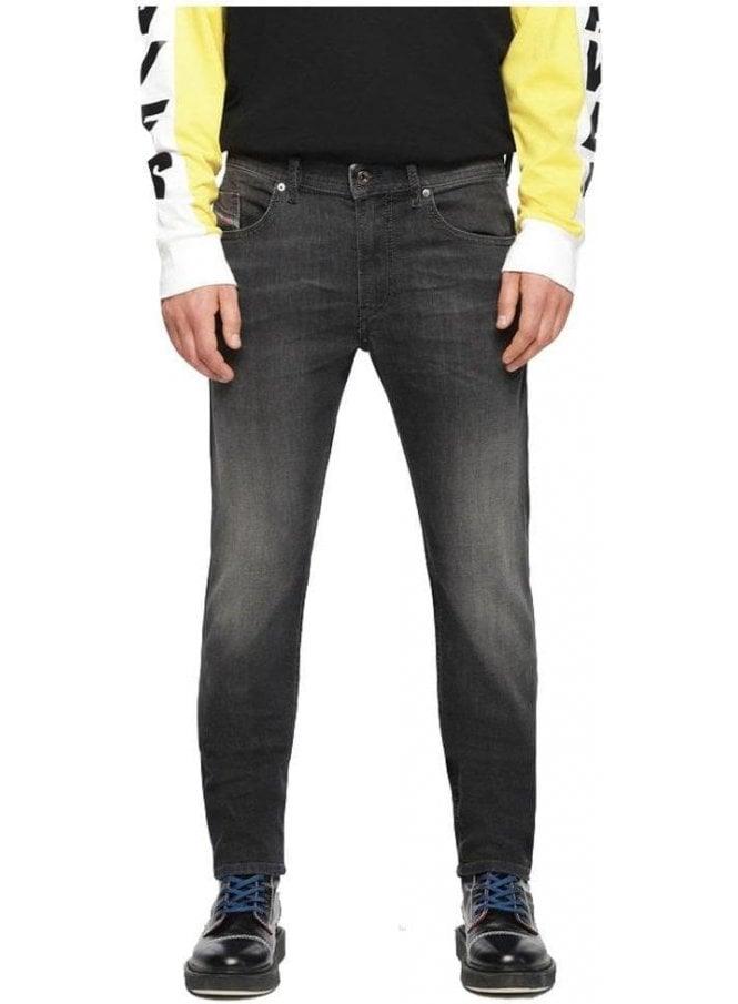 DIESEL Thommer Slim Skinny Fitting Denim Jean 687j Black/Dark Grey