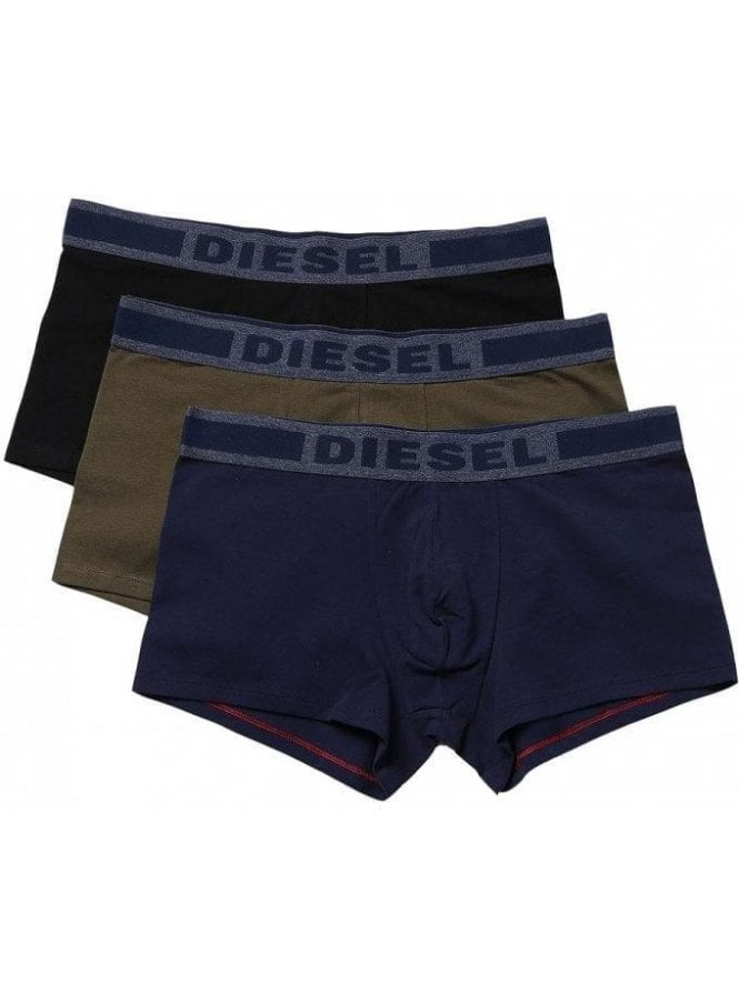 DIESEL Umbx-shawnthreepack Boxer Shorts Navy/khaki/Black