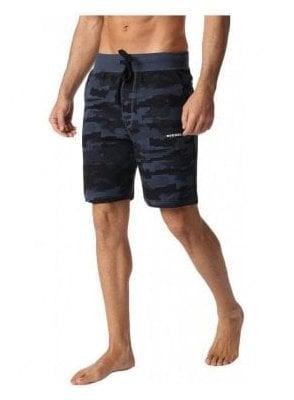Diesel Umlb-pan Loungewear Shorts 89b Melange Blue
