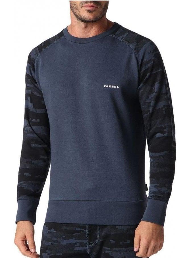 DIESEL Umlt Casey Sweat Shirt 89b Blue