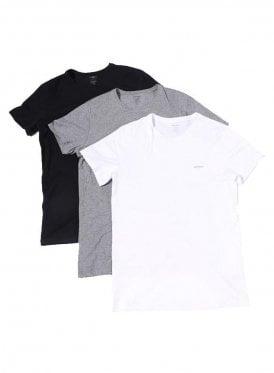 Umtee-jakethreepack Crew Neck Tshirts White/black/grey