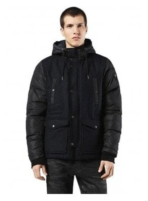 W-unresty Wool Nylon Hooded Parka With Deep 900
