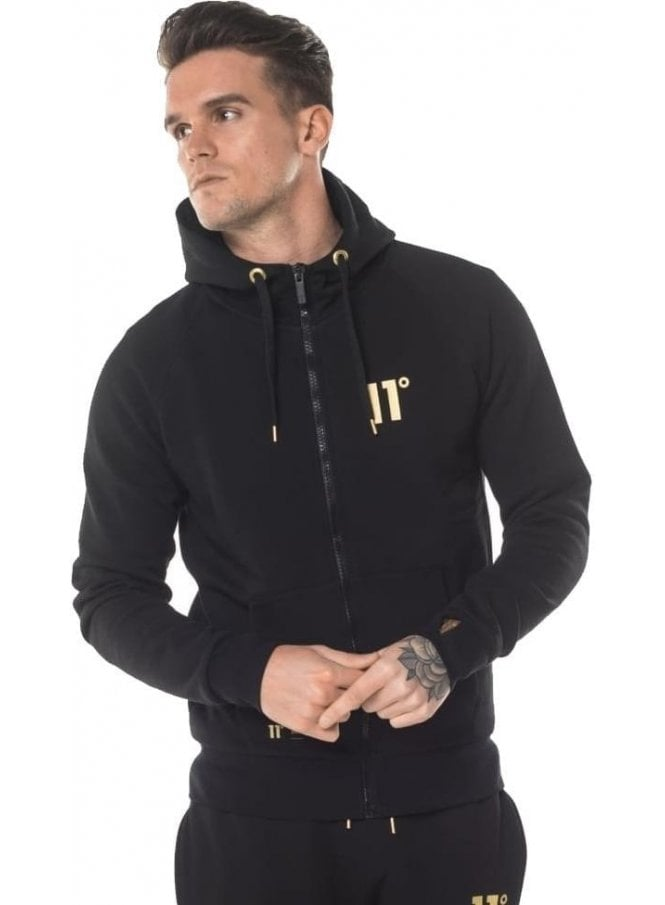 ELEVEN DEGREES Black Gold Zip Up Exclusive Collection