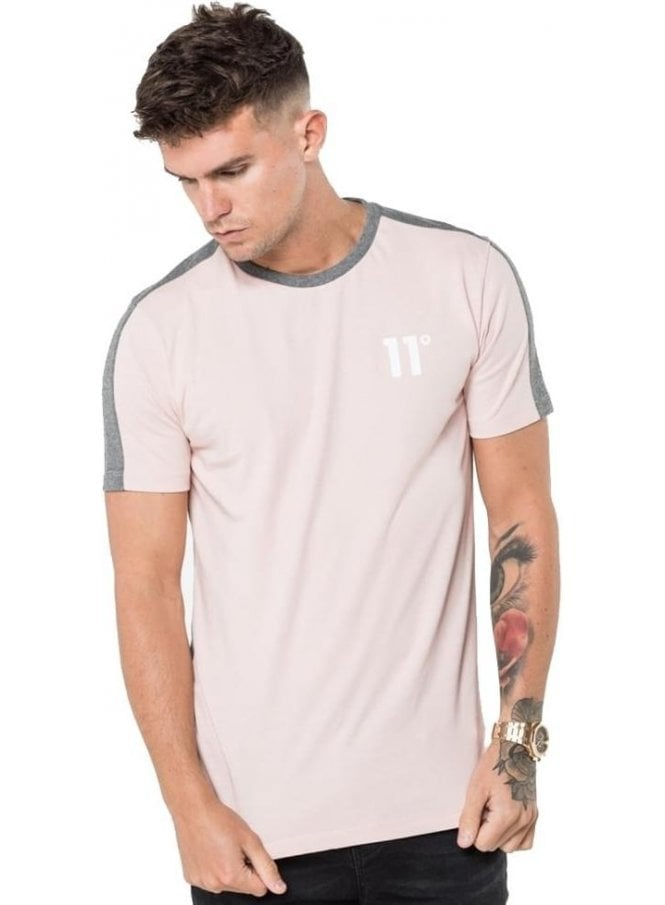ELEVEN DEGREES Block Tee Shirt Dusky Pink