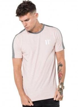Block Tee Shirt Dusky Pink
