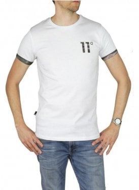 Brown Water Colour Tee White