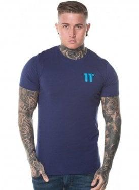 Contrast Logo Tee Shirt Navy & Malibu Blue