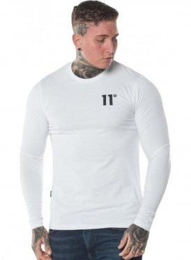 Core Long Sleeve Muscle Fit White