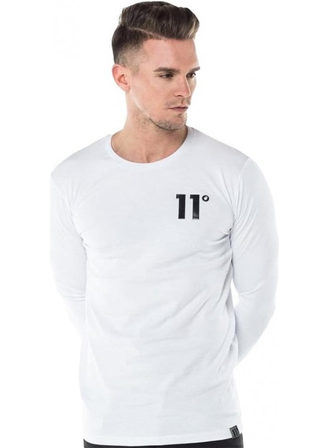 ELEVEN DEGREES Core Long Sleeve Tee Shirt White